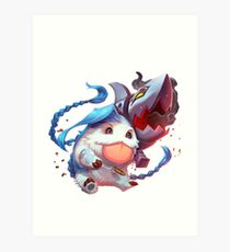 Jinx poro league of legends Art Print
