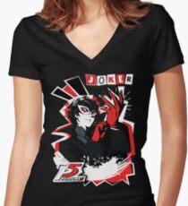 Persona 5 - Joker Women's Fitted V-Neck T-Shirt