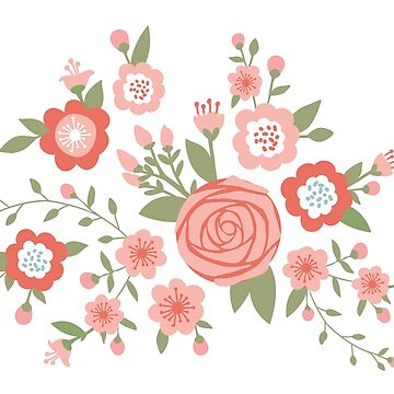 Rosa rosa y Cherry Blossom Pattern de hocapontas
