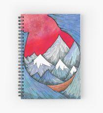 Through The Mountains  Spiral Notebook