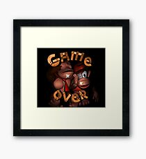 Donkey Kong Game Over Framed Print