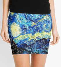 Starry Night - Vincent Van Gogh Mini Skirt