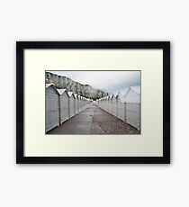 N°158: Double-exposure at the beach 2 Framed Print