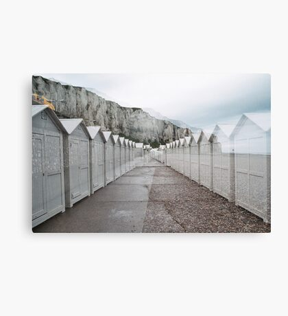 N°158: Double-exposure at the beach 2 Canvas Print
