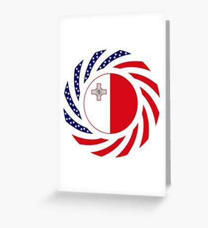 Maltese American Multinational Patriot Flag Series Greeting Card