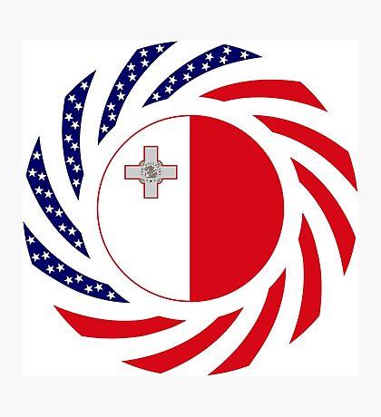 Maltese American Multinational Patriot Flag Series Photographic Print