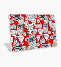 White roses and owls Laptop Skin