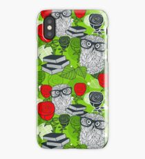 Red roses and clever owls iPhone Case/Skin