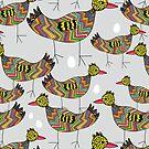 Birds and eggs by Ekaterina Panova