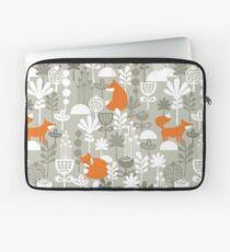Fox in winter forest Laptop Sleeve
