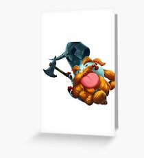 Olaf poro league of legends Greeting Card
