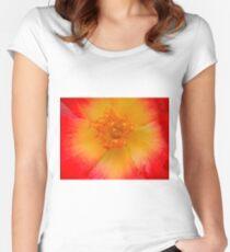 Macro flower Women's Fitted Scoop T-Shirt