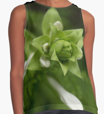 A Little Green and White Contrast Tank