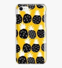 Black pineapple iPhone Case/Skin