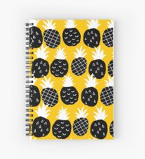 Black pineapple Spiral Notebook