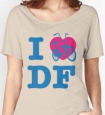 I Love Cycling DF 2 Blue Pink / Yo Amo andar en Bicicleta en el DF / Chilango Pride / Orgullo Chilango Women's Relaxed Fit T-Shirt