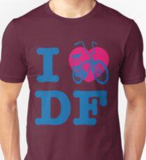 I Love Cycling DF 2 Blue Pink / Yo Amo andar en Bicicleta en el DF / Chilango Pride / Orgullo Chilango Unisex T-Shirt