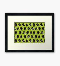 Black cute octopuses Framed Print