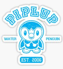 Piplup - College Style Sticker