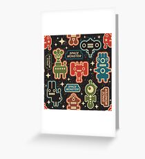 Space monster Greeting Card
