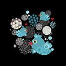 Blue birds by Ekaterina Panova