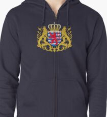Luxembourg Coat of Arms Zipped Hoodie