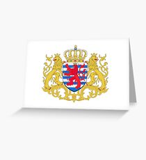 Luxembourg Coat of Arms Greeting Card