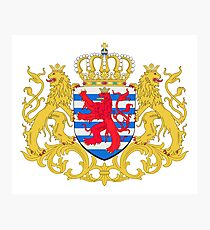 Luxembourg Coat of Arms Photographic Print