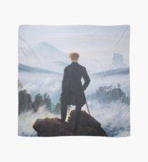 Man on edge of cliff by Caspar David Friedrich Scarf