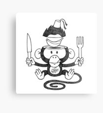 HUNGRY MONKEE Metal Print