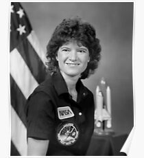 Astronaut Sally Ride  Poster