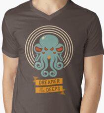 Cthulhu, Dreamer in the Deeps Men's V-Neck T-Shirt
