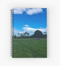 Sheep On One Tree Hill Spiral Notebook