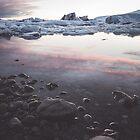Jokulsarlon Lagoon - Sunset by ewkaphoto