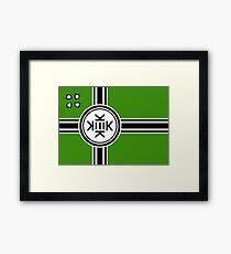Official flag of Kekistan Framed Print