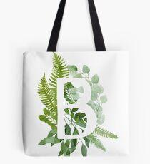 Floral letter B Tote Bag