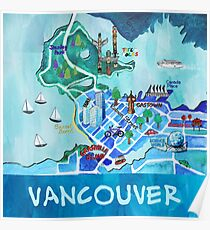 Vancouver Illustrated Map Poster