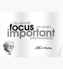 d3a32d3f813 focus is important - warren buffett Poster