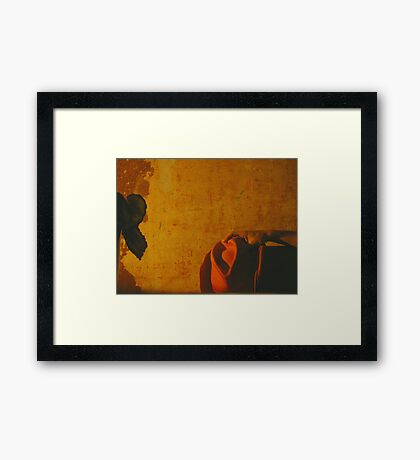 The Decision. Or...Meanwhile in a corner cafe in Mexico... Framed Print