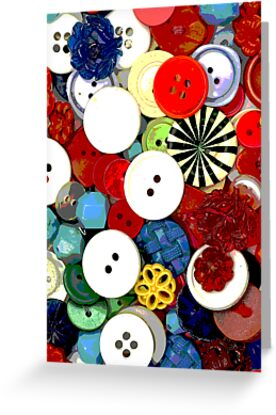 Colorful Button Background by grandaded