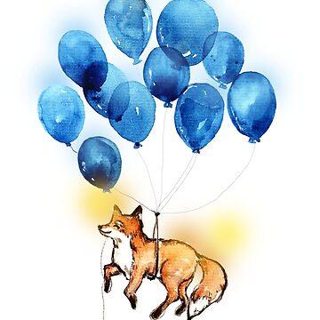 Zorro rojo y los globos de KaylaPhan