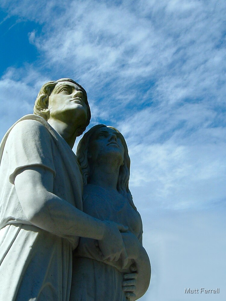 Statues in cemetery by Matt Ferrell