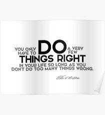 do things right (v2) - warren buffett Poster