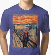 The Wooop of Nature (by Edward Munch) Tri-blend T-Shirt