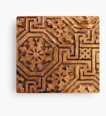 Egyptian Labyrinth Design Canvas Print