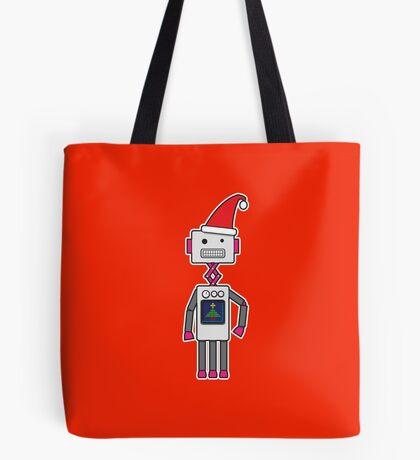 Christmas Robot Tote Bag