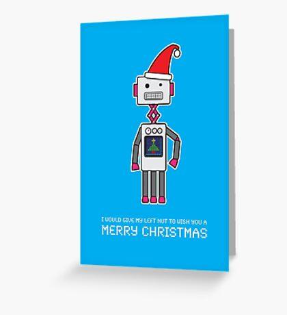 Christmas Robot Greeting Card