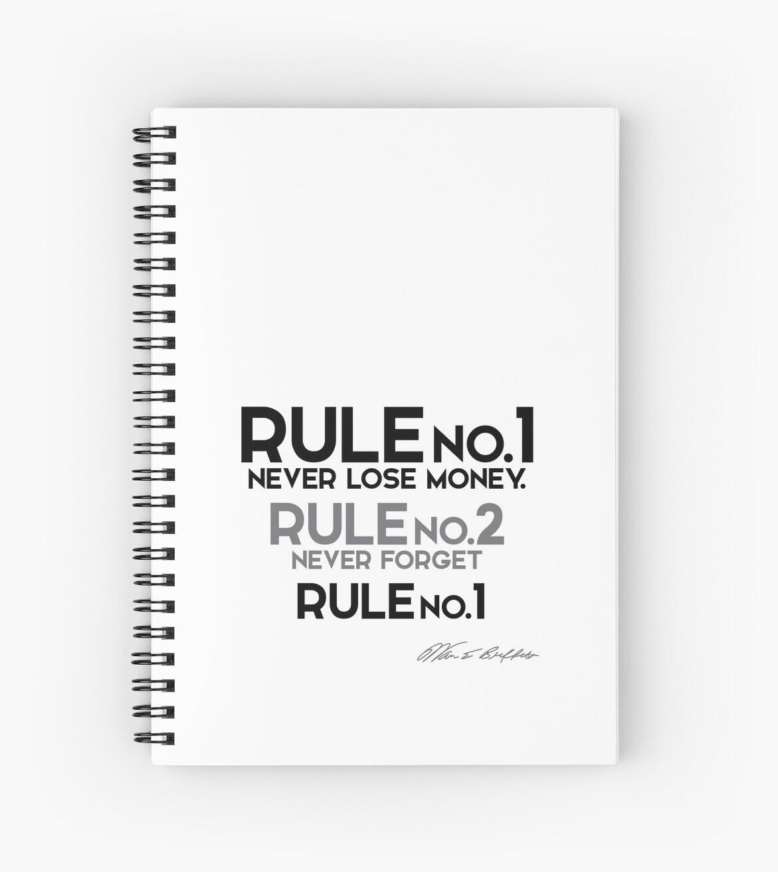 rule no.1 - never lose money - warren buffett\