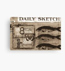 daily sketch Canvas Print