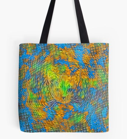 Cat. Every day is Earth Day. Tote Bag